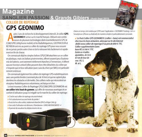Article du mois d'août 2011 du magasine SANGLIER PASSION
