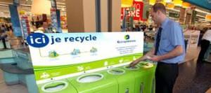 Un exemple de point de recyclage pour vos appareils électroniques et vos batteries
