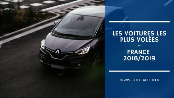 Les vols de voiture en France en 2018 / 2019